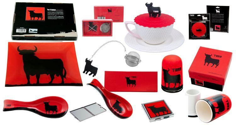 Osborne toro negro fondo rojo