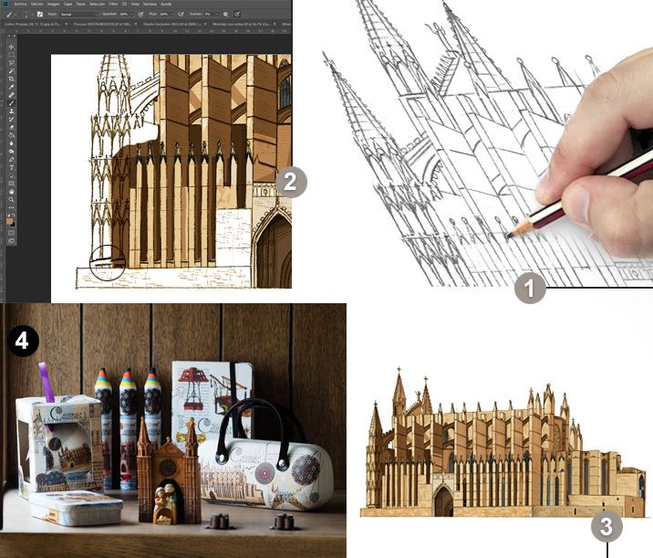Proceso creativo Catedral de Mallorca